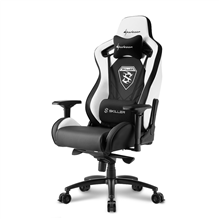 Sharkoon XXL Gaming Seat and XXLComfort, Skiller SGS4, Black/ white