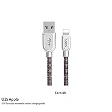hoco. U15 For Apple eminently lucidity charging cable tarnish USB A male, Lightning, 1 m, Tarnish