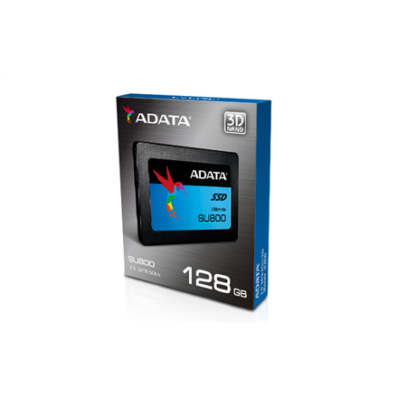 """A-Data Ultimate SU800 128 GB, SSD form factor 2.5"""", Solid-state drive interface Serial ATA III, Write speed 300 MB/s, Read speed 560 MB/s"""