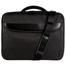 "Continent CC-089 BK Fits up to size 15.6 "", Black, Shoulder strap, Polyester/Nylon, Messenger - Briefcase"