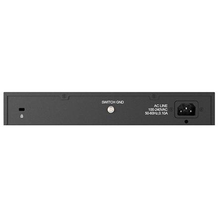 D-LINK DES-1024D, 24-port UTP 10/100Mbps Auto-sensing, Stand-alone, Unmanaged, 11-inch desktop & rack-mount, 1U, D-link Green technology, Metal case
