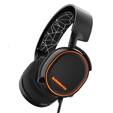 SteelSeries Arctis 5 gaming headsets 61443 USB or Single 3.5mm, 4-Pole Plug via included adapter,