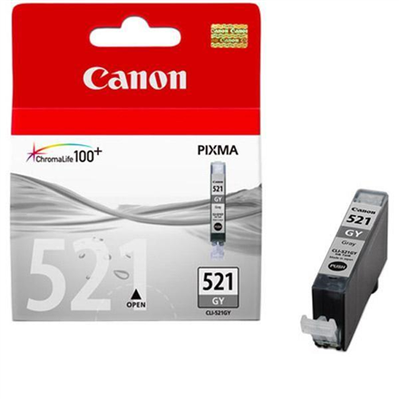 Canon CLI-521GY Grey Ink Tank (for Pixma IP3600 IP4600 MP540 MP620 MP630 MP980)