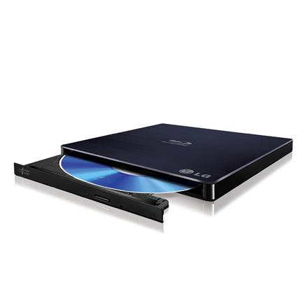 LG External  BP55EB40 Interface USB 2.0, Blu-Ray DVD Combo, Black, CD write speed 24 x, CD read speed 24 x