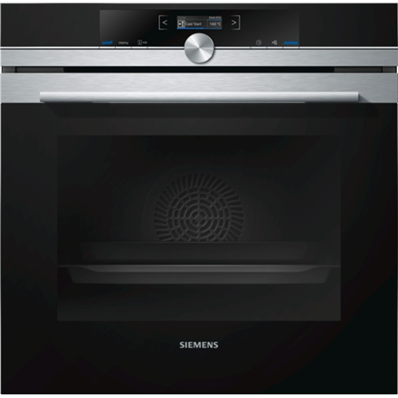 Siemens HB632GCS1S Built in Oven, 71L capacity, 8 Functions, EC A+, 4D hot air, Hotair eco, TFT Display, ecoClean Plus, Black-Stainless steel