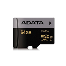 ADATA Premier Pro UHS-I U3 64 GB, MicroSDXC, Flash memory class 10