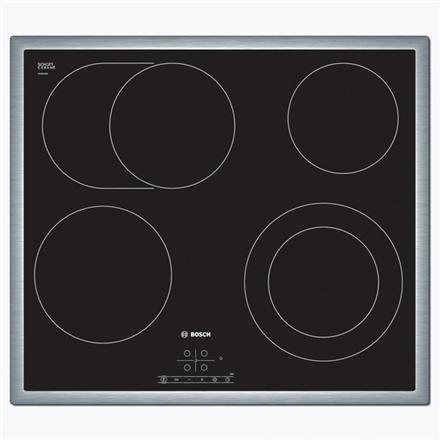 Bosch Hob PKN645B17 Electric, Number of burners cooking zones 4, Black, Display, Timer