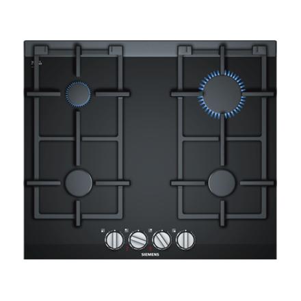 SIEMENS Hob ER6A6PD70 Gas, Number of burners cooking zones 4, Black, Display,