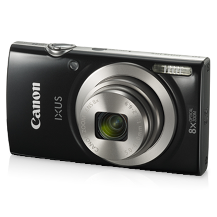 Canon IXUS 185 Compact camera, 20 MP, Optical zoom 8 x, Digital zoom 4 x, Image stabilizer, ISO 800, Display diagonal 2.7 , Focus TTL, Video recording, Lithium-Ion (Li-Ion), Black