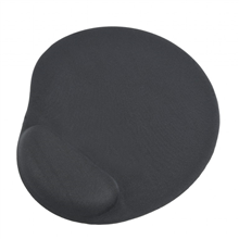 Gembird Gel mouse pad with wrist support Black, 240 x 220 x 4 mm