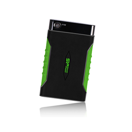 SILICON POWER 2TB, PORTABLE HARD DRIVE ARMOR A15, BLACK amp; GREEN