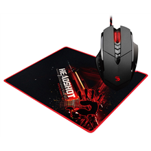 A4Tech V7M wired, Black, Red, Laser Gaming Mouse. USB +B-071 mouse pad