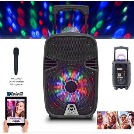 iDance Bluetooth Speaker Groove 215 100 W, Portable, Black, Bluetooth