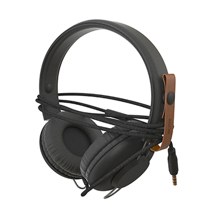 Ausinės su mikrofonu ACME SATURN Light headphones + cable organizing + mic   Black