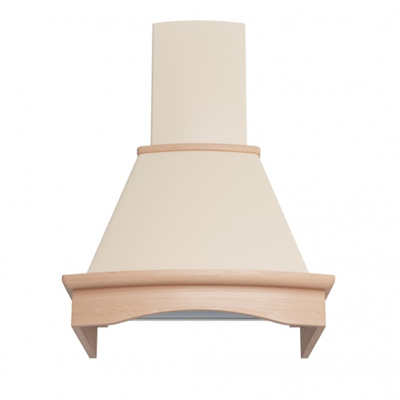 Hood Eleyus Tempo 750  Wall mounted, Width 60 cm, Ivory with not colored wood, Energy efficiency class E, 51 dB