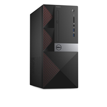 Dell Vostro 3668 Desktop, Tower, Intel Core i3, i3-7100, Internal memory 4 GB, DDR4, HDD 500 GB, Intel HD, Tray load DVD Drive (Reads and Writes to DVD/CD), Keyboard language English, Russian, Linux, Warranty 36 month(s), 802.11BGN, Black/Red, 7200 RPM, 4