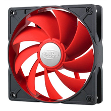 Deepcool 92mm Ultra silent fan with patented De-vibration TPE cover, Red, for case and psu