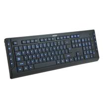 A4Tech keyboard KD-600L, USB, US layout; (Black), X-Slim, Lighting Keyboard,  LED Blue Light