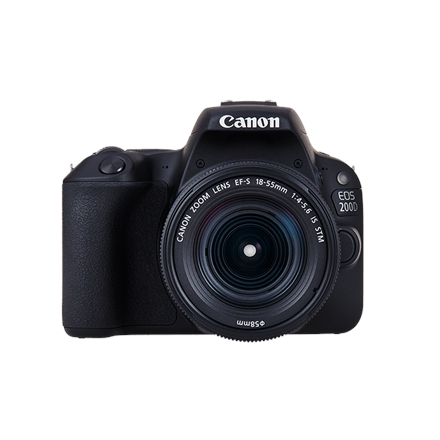 Canon EOS 200D 18-55 MM +camera bag+16GB memory card SLR Camera Kit, Megapixel 24.2 MP, Image stabilizer, ISO 25600, Display diagonal 3.0 , Wi-Fi, Video recording, TTL, Frame rate 29.97 fps, CMOS, Black