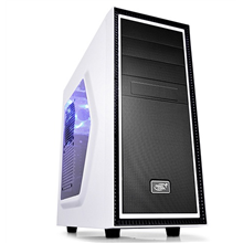 Deepcool TESSERACT SW White Midl tower, USB 3.0 , Window, black inside, w/o PSU, mATX / ATX