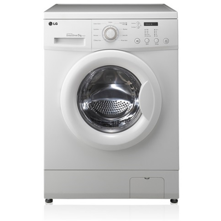 LG F10C3LD Washing Machine Direct drive with Smart Diagnosis function 5KG 1000RPM Depth 44cm(Slim) 14 Programs 9 Special options EC A++ White
