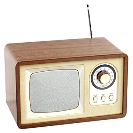 ClipSonic Bluetooth Compatible retro speaker radio TES177 Wooden case, beige, 5 W