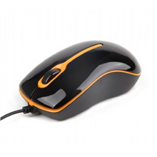 Gembird Optical mouse, USB Black and orange