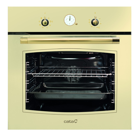 CATA MRA 7008 IV   Multifunctional Oven, 60 L, Ivory, Aqua Smart, A, Mechanical, Height 59,2 cm, Width 59,2 cm