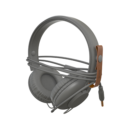 Ausinės su mikrofonu ACME SATURN Light headphones + cable organizing + mic   Grey