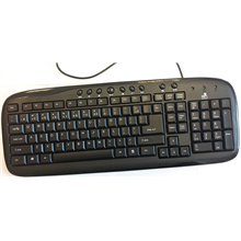 Super power Keyboard KM-1008 black, USB, EN/LT layout, waterproof, with 11 Multimedia Keys