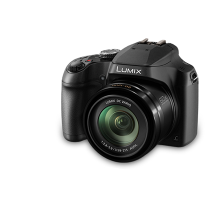 Panasonic Lumix DC-FZ82EP-K Compact camera, 18.1 MP, Optical zoom 60 x, Digital zoom 4 x, Image stabilizer, ISO 6400, Touchscreen, Display diagonal 3.0 , Wi-Fi, Focus 0.01m - ∞, Video recording, Lithium-Ion (Li-Ion), Black