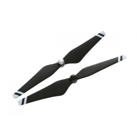 DJI 9450 Carbon Fiber Self-tightening Propeller Pair (composite hub, black with white stripes)