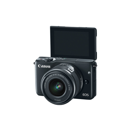 Canon EOS M10 BK M15-45 S  Compact camera, 18.0 MP, Image stabilizer, ISO 25600, Display diagonal 3.0 , Video recording, Wi-Fi, DIGIC 6, Black, Lithium-Ion (Li-Ion), Touchscreen