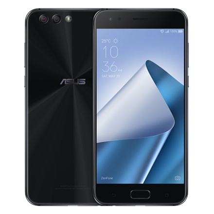 Asus ZenFone 4 ZE554KL Midnight Black, 5.5 , IPS+, 1920 x 1080 pixels, Qualcomm Snapdragon 630, SDM630, Internal RAM 4 GB, 64 GB, Dual SIM, Nano-SIM, 3G, 4G, Main camera 12 MP, Second camera 8 MP, Android, 7.0, 3300 mAh, Warranty 24 month(s)