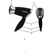 Mesko MS 2234 Hair dryer, 1250W, 2 speed settings, 3 temperature settings, Black