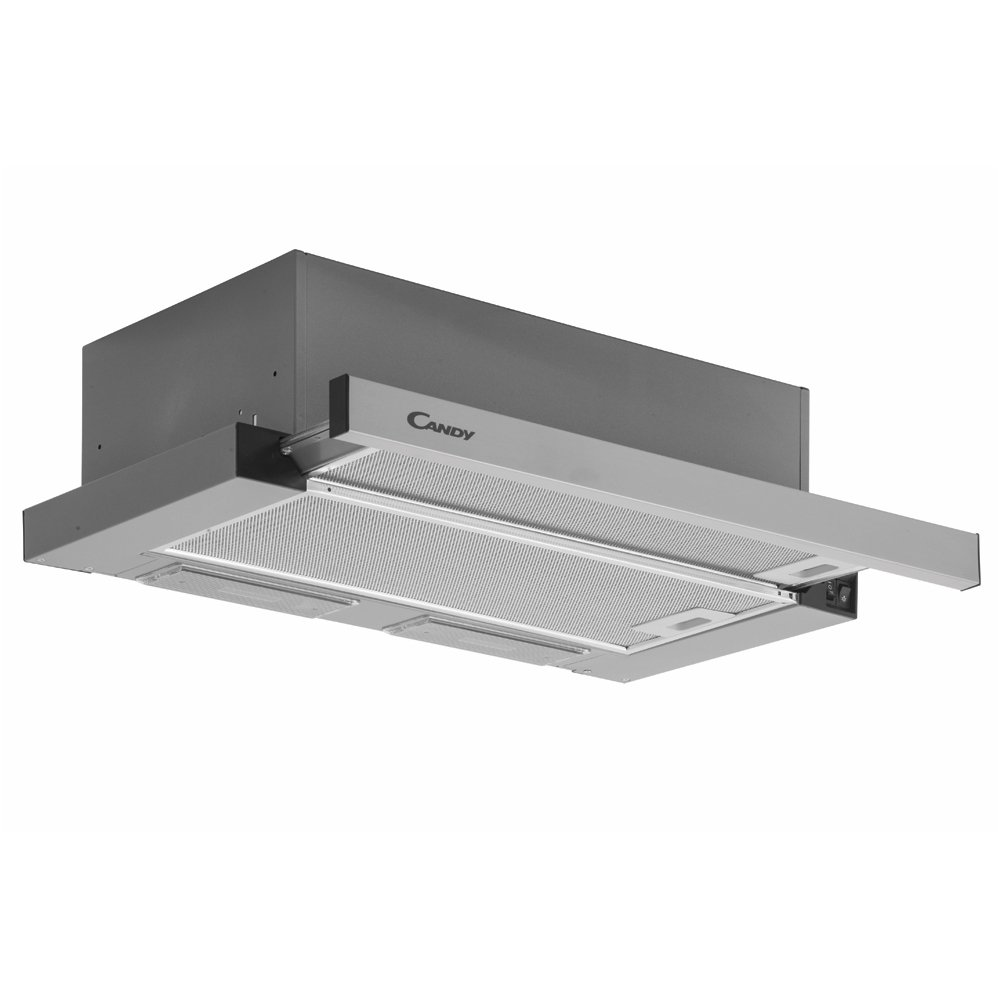 Candy Cooker hood CBT6324/1X Built-in, Width 60 cm, 347 m³/h, Stainless steel, Energy efficiency class E, 65 dB