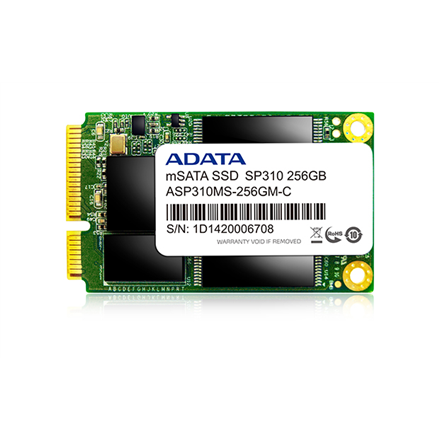 A-DATA SSD Premier Pro SP310 256GB 2.5 mSATA, Read up to 500MB S, Write up to 270MB S