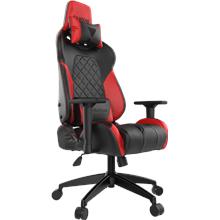 Gamdias Gaming chair Achilles E1-L Black/Red. Adjustable backrest and hadlebars, RGB lightning.