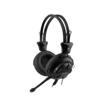A4Tech gaming headset HS-28 (Black), 20Hz~20KHz, 32ohms, 40mm speaker