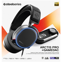 SteelSeries Black, Built-in microphone, USB / 3.5mm, Gaming headset, Arctis Pro + GameDAC