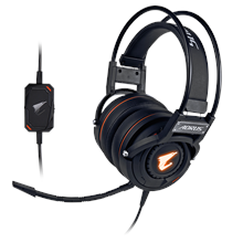 Gigabyte AORUS H5 3.5 mm, Black, Built-in microphone