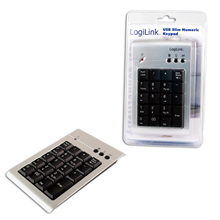 Logilink USB Keypad 19 Keys, Additional Keypad for Laptops Numeric keypad Modern soft membrane