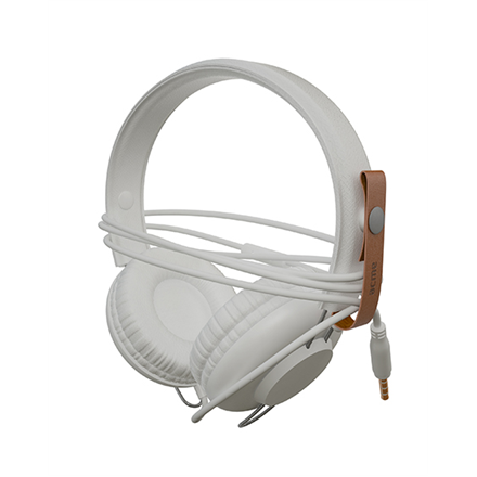 Ausinės su mikrofonu ACME SATURN Light headphones + cable organizing + mic   White