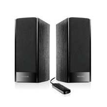 Microlab B-56 2.0 Speakers/ 3W RMS (1.5W+1.5W)/ wired Remote/ USB Powered/ Wooden MDF/ Black