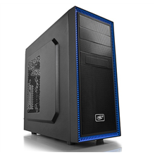 Deepcool TESSERACT BF Midl tower, USB 3.0 , black inside, w/o PSU, mATX / ATX