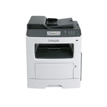 "Lexmark MX410de Multifunction Mono Laser Printer/ Print, copy, scan, fax/ 1200 x 1200 dpi/ 40 ppm/ 800 MHz/ 512 MB/ 300-Sheet Input/ Integrated Duplex/ 4,3"" Touch Screen/Ethernet 10/100/100/ USB 2.0/ White"