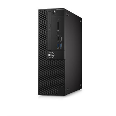 Dell OptiPlex 3050 Desktop, SFF, Intel Core i3, i3-7100, Internal memory 8 GB, DDR4, SSD 256 GB, Intel HD, DVD-RW Drive (Reads and Writes to DVD CD), Keyboard language English, Linux, Warranty Basic Next Business Day 36 month(s)