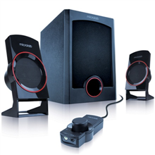 Microlab M-111 2.1 Speakers/ 13W RMS (3Wx2+7W)/ wired Remote Control with MP3 input & Headphone