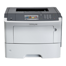 Lexmark MS610de Mono, Laser, Printer, A4, Grey,  50 ipm, Duplex functions, USB 2.0 Specification Hi-Speed Certified (Type B). Front USB 2.0 Specification Hi-Speed Certified port (Type A). Ethernet 10/100/1000