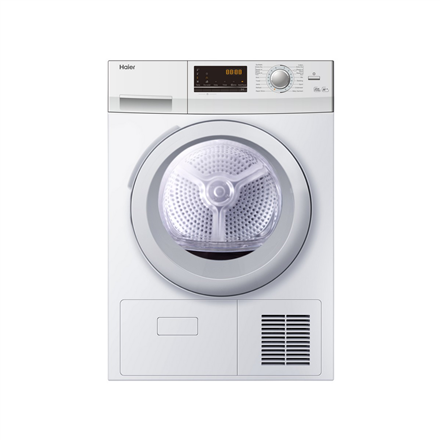 Haier Dryer mashine HD80-A636-DF Condensed, Heat dryer, 8 kg, Energy efficiency class A++, Number of programs 16, White